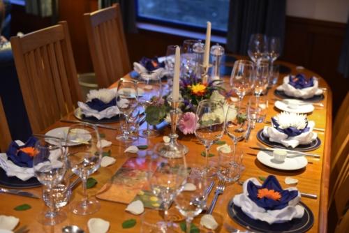 dinner table for Captain's dinner