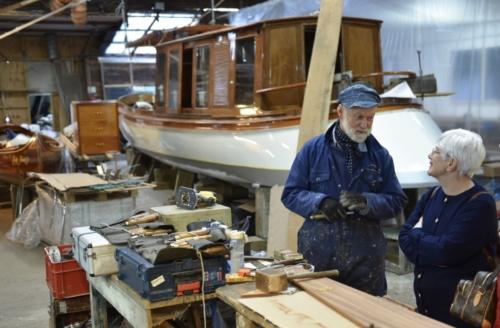 touring Peter Freebody's boatyard