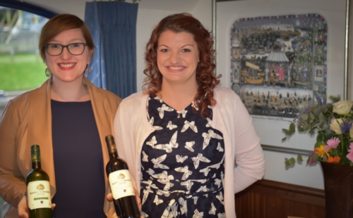 wine presentations from the hostesses